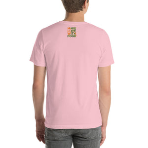 Carrot Heart Men's Cotton Short Sleeve T Shirt Pink Back