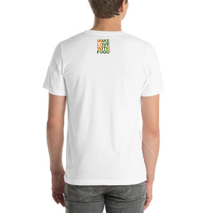 Carrot Heart Men's Cotton Short Sleeve T Shirt White Back