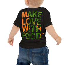 Load image into Gallery viewer, Carrot Heart Baby Jersey Short Sleeve T Shirt Black Back