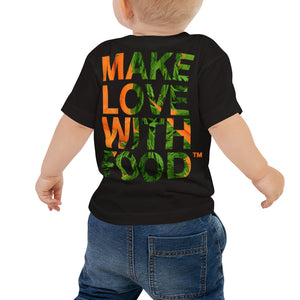 Carrot Heart Baby Jersey Short Sleeve T Shirt Black Back