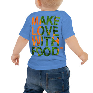 Carrot Heart Baby Jersey Short Sleeve T Shirt Columbia Blue Back
