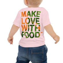 Load image into Gallery viewer, Carrot Heart Baby Jersey Short Sleeve T Shirt Pink Back