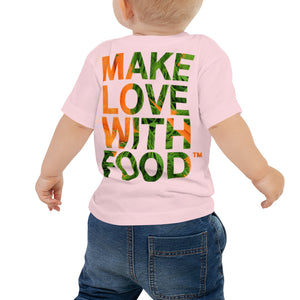 Carrot Heart Baby Jersey Short Sleeve T Shirt Pink Back
