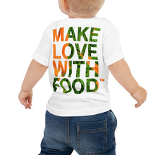 Load image into Gallery viewer, Carrot Heart Baby Jersey Short Sleeve T Shirt White Back