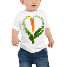 Load image into Gallery viewer, Carrot Heart Baby Jersey Short Sleeve T Shirt White Front