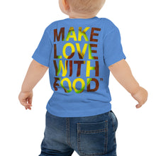 Load image into Gallery viewer, Avocado Baby Cotton Short Sleeve T Shirt Columbia Blue Back