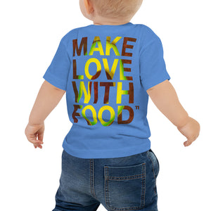 Avocado Baby Cotton Short Sleeve T Shirt Columbia Blue Back