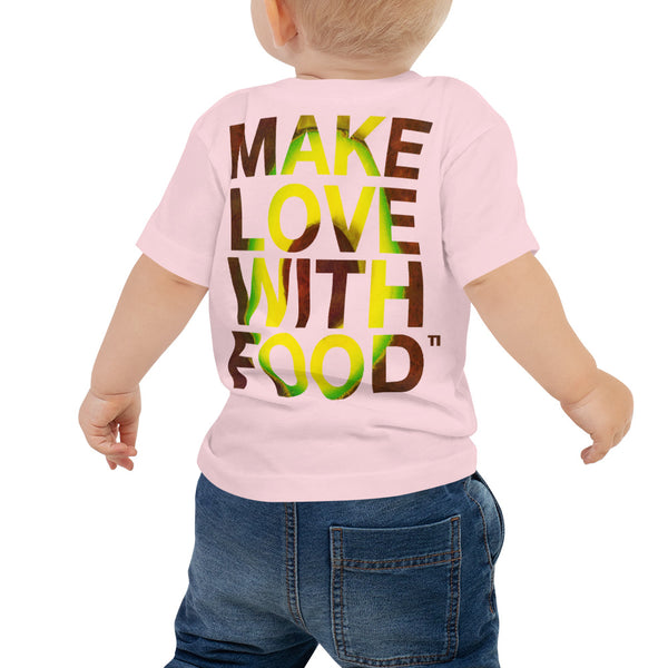 Avocado Baby Cotton Short Sleeve T Shirt Pink Back