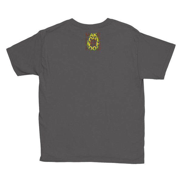Avocado Youth Cotton Short Sleeve T Shirt Charcoal Front