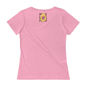 Avocado Women's Scoopneck Cotton T Shirt Pink Back