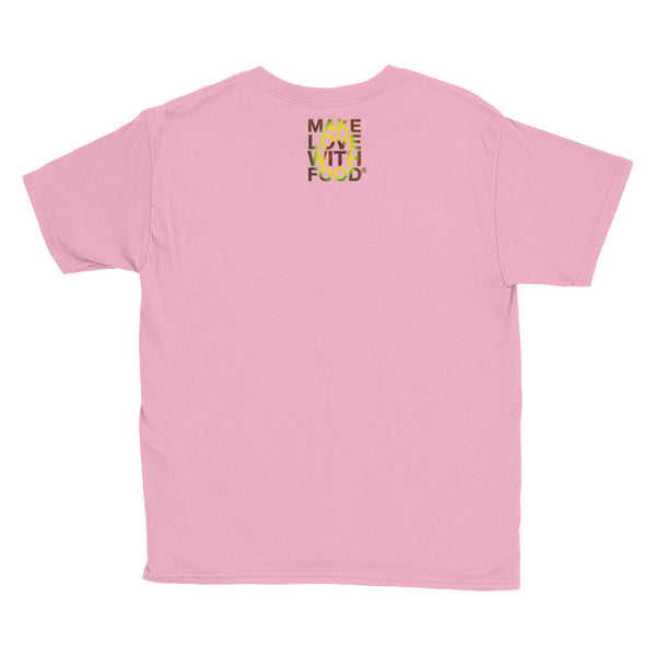 Avocado Youth Cotton Short Sleeve T Shirt Charity Pink Back
