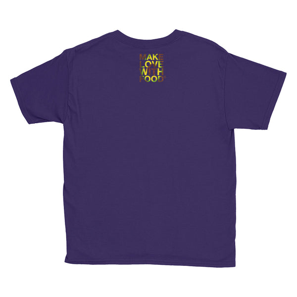 Avocado Youth Cotton Short Sleeve T Shirt Purple Back