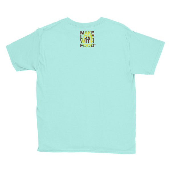 Avocado Youth Cotton Short Sleeve T Shirt Teal Ice Back