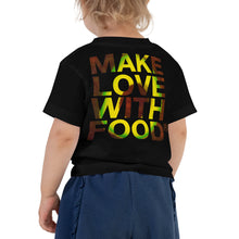 Load image into Gallery viewer, Avocado Toddler Cotton Short Sleeve T Shirt Black Back