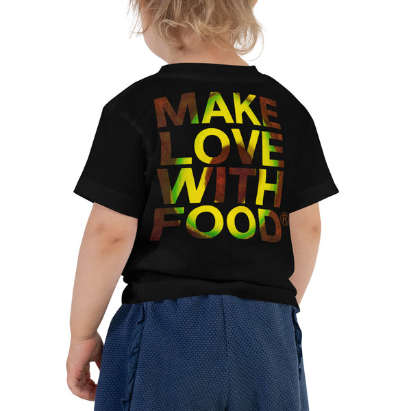 Avocado Toddler Cotton Short Sleeve T Shirt Black Back