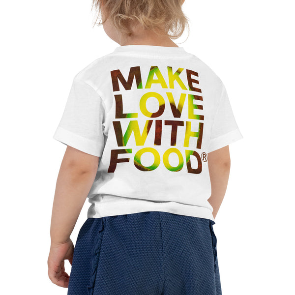 Avocado Toddler Cotton Short Sleeve T Shirt White Back