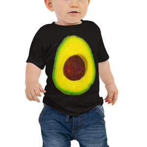 Avocado Baby Cotton Short Sleeve T Shirt Black Front