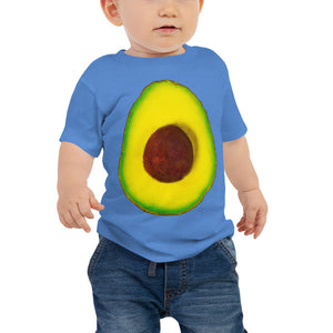 Avocado Baby Cotton Short Sleeve T Shirt Columbia Blue Front