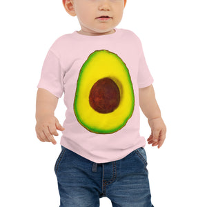 Avocado Baby Cotton Short Sleeve T Shirt Pink Front