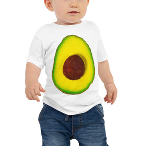 Avocado Baby Cotton Short Sleeve T Shirt White Front