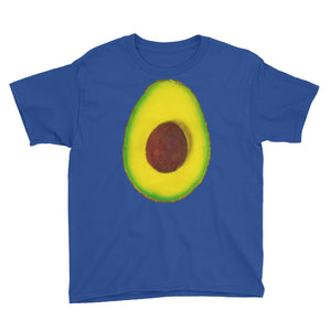 Avocado Youth Cotton Short Sleeve T Shirt Royal Blue Front