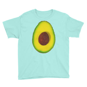 Avocado Youth Cotton Short Sleeve T Shirt Teal Ice Front