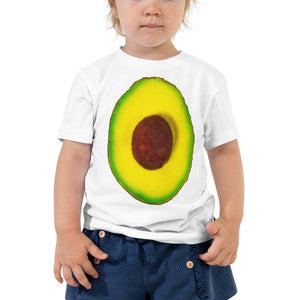 Avocado Toddler Cotton Short Sleeve T Shirt White Front