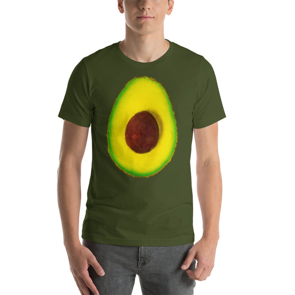 Avocado Men's Cotton Short Sleeve T Shirt Olive Front