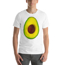 Load image into Gallery viewer, Avocado Men's Cotton Short Sleeve T Shirt White Front
