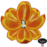 Navel Orange Lotus Heart Women's Tee by Burkart Organics - Make Love With Food  - 5