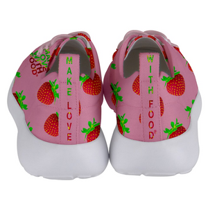 Strawberry Women's Lightweight Sports Shoe Back
