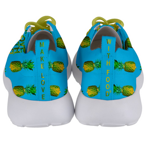 Men's blue pineapple shoes back