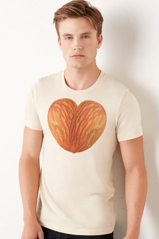 Almond Men's Tee by Fat Uncle Farms - Make Love With Food  - 1