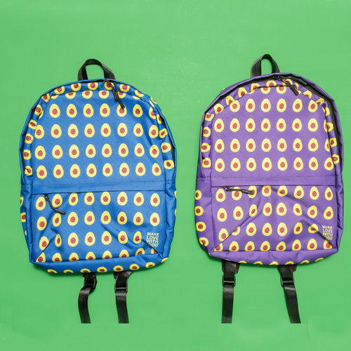 Avocado Kids and Toddler Blue and Purple Backpack