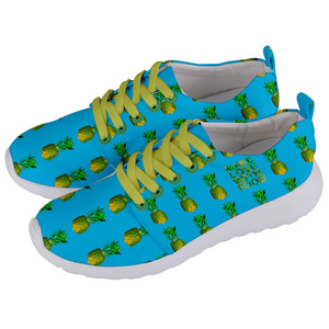 Men's blue pineapple shoes side