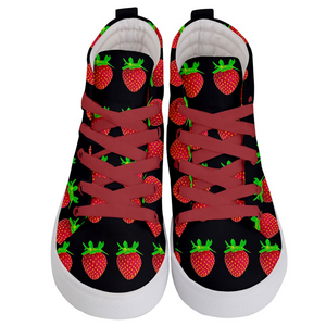 Black Strawberry Kids Hi-top shoe top