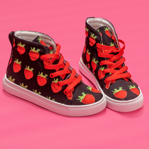 Black Strawberry Kids Hi-top shoe sidea