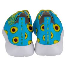 Load image into Gallery viewer, Sky Blue Avocado Women's Lightweight Sports Shoes Back