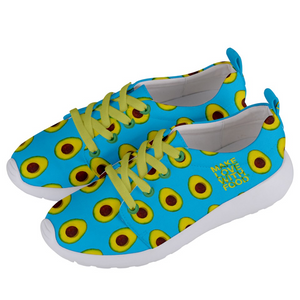 Sky Blue Avocado Women's Lightweight Sports Shoes Side
