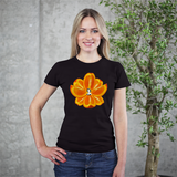 Navel Orange Lotus Heart Women's Tee by Burkart Organics - Make Love With Food  - 2