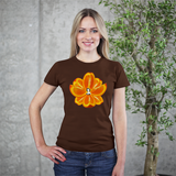 Navel Orange Lotus Heart Women's Tee by Burkart Organics - Make Love With Food  - 3