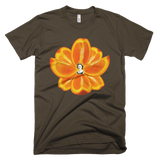 Navel Orange Lotus Men's Tee by Burkart Organics - Make Love With Food  - 2