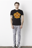 Navel Orange Lotus Men's Tee by Burkart Organics - Make Love With Food  - 3