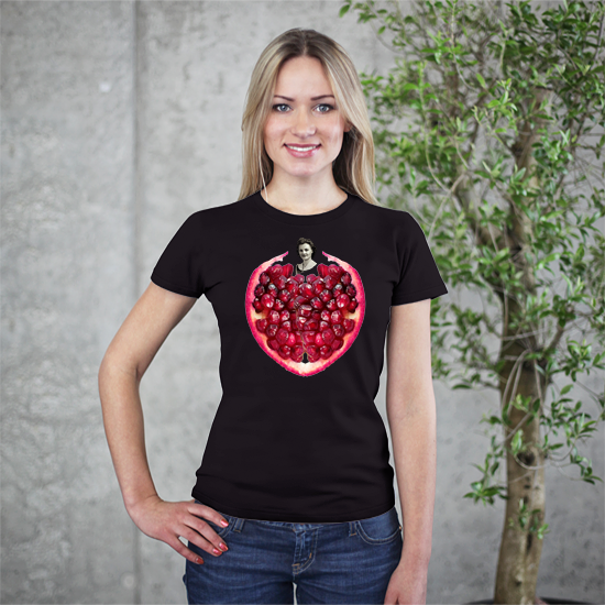 Pomegranate Heart Women's Tee by Burkart Organics - Make Love With Food  - 1