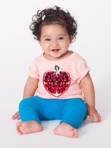 Pomegranate Heart Infant Tee by Burkart Organics - Make Love With Food  - 1