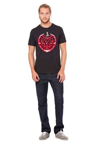 Pomegranate Heart Men's Tee by Burkart Organics - Make Love With Food  - 1