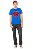 Pomegranate Heart Men's Tee by Burkart Organics - Make Love With Food  - 2