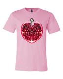 Pomegranate Heart Men's Tee by Burkart Organics - Make Love With Food  - 4