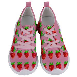 Strawberry Women's Lightweight Sports Shoe Front