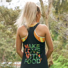 Load image into Gallery viewer, Carrot Heart Women's Racerback Tri-blend Tank Front